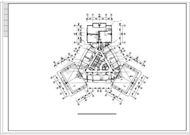 办公楼设计_高层办公楼舒适性空调系统cad施工图(风冷热泵)-图一
