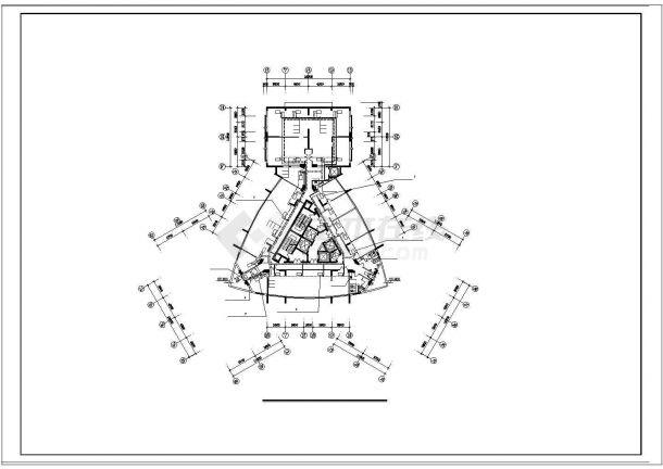 办公楼设计_高层办公楼舒适性空调系统cad施工图(风冷热泵)-图二