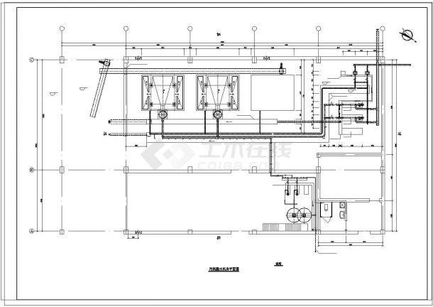某8万吨污水处理厂工艺设计cad图纸-图二