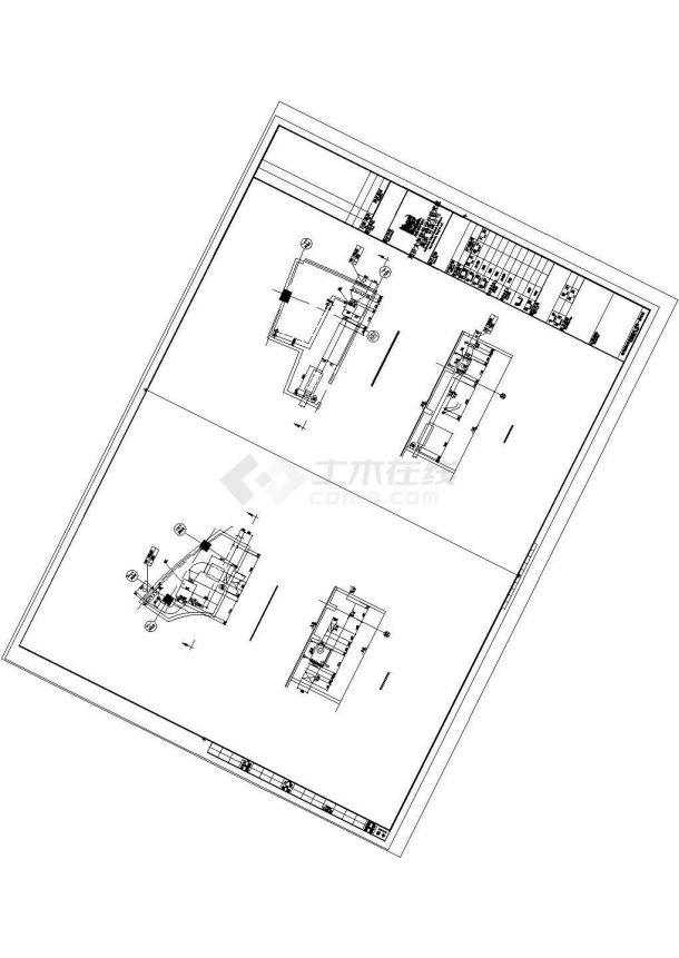 天津师范大学体育馆暖通安装工程施工图cad图纸-图二
