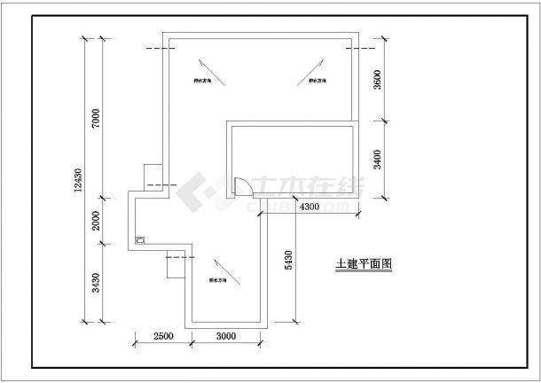 某框架结构多层住宅楼屋顶花园绿化规划设计cad平面方案图-图一