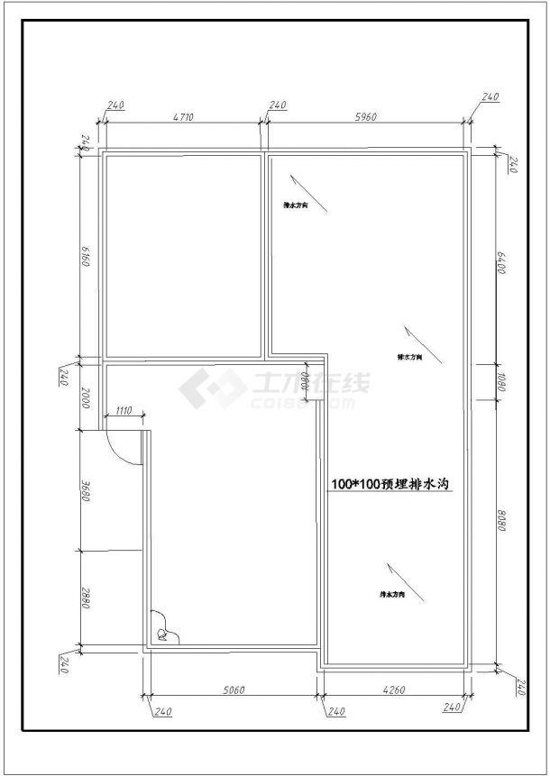 某框架结构多层住宅楼屋顶花园绿化规划设计cad平面方案图-图二