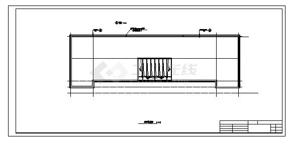 土木工程毕业设计_办公楼设计_某六层钢筋混凝土结构综合办公楼建施cad图(含计算书,毕业设计)-图一