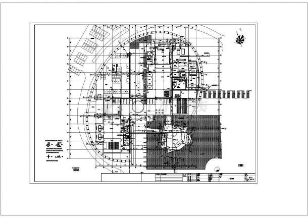 [四川]科技园区中心建筑给排水图纸cad-图一
