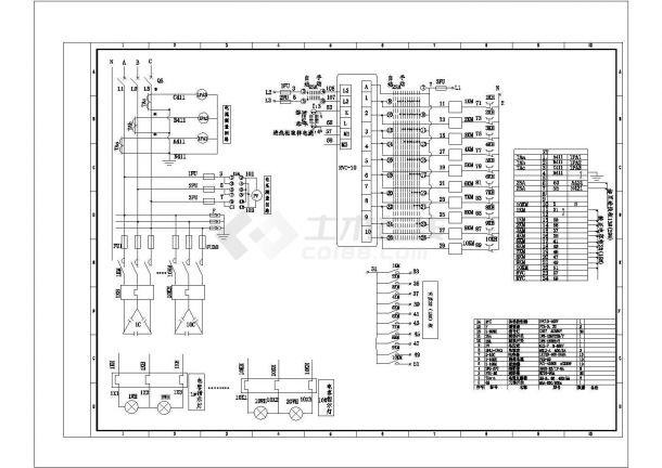 电容主柜二次原理图CAD-图一