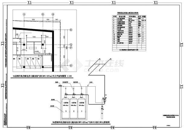 办公楼设计_深圳某超高层办公楼给排水全套施工cad图纸-图一