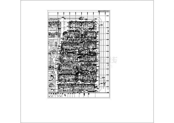小区规划平面图植物配置CAD-图一