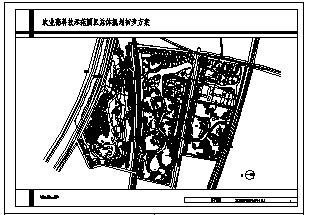 某市农业高科技示范园区规划设计cad总图-图一