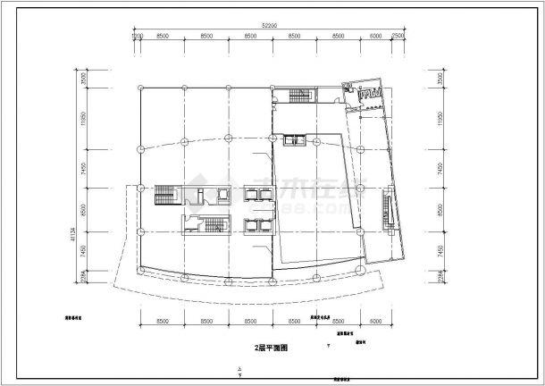 深圳市高层商务公寓酒店办公综合楼CAD设计方案施工图-图一