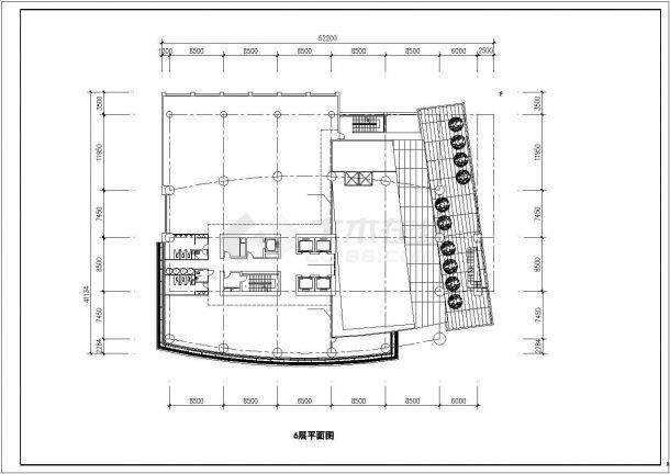 深圳市高层商务公寓酒店办公综合楼CAD设计方案施工图-图二