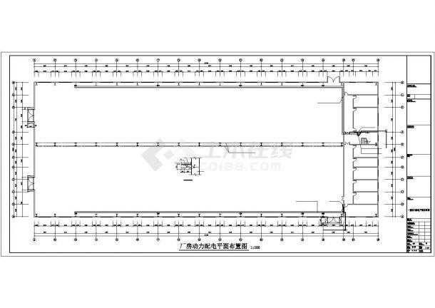 某二层厂房电气施工CAD参考图-图二