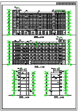 某小学建筑设计方案cad图纸-图一