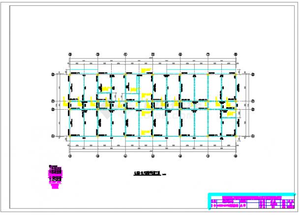 【5层】5青年公寓全套cad设计(结构计算书,图纸,施工组织设计等)-图二