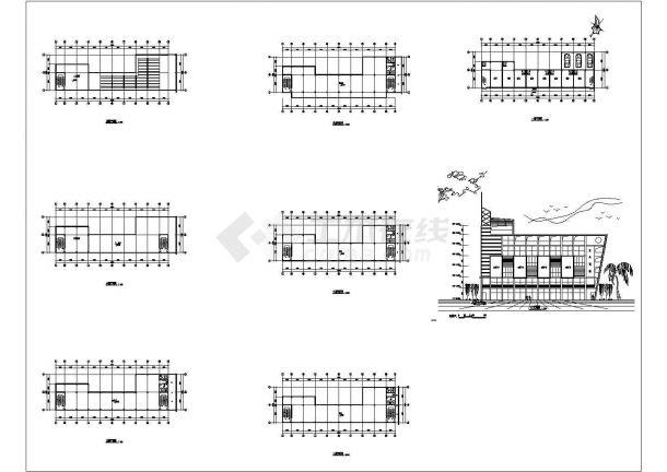 某地区六层商业建筑设计CAD图-图一
