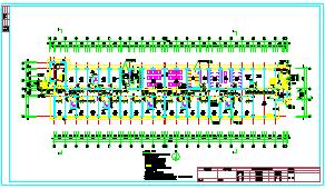 5层 宿舍楼施工cad组织设计(6000平,施工组织,建筑图,结构图)-图一