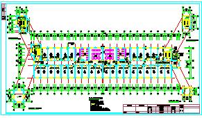5层 宿舍楼施工cad组织设计(6000平,施工组织,建筑图,结构图)-图二