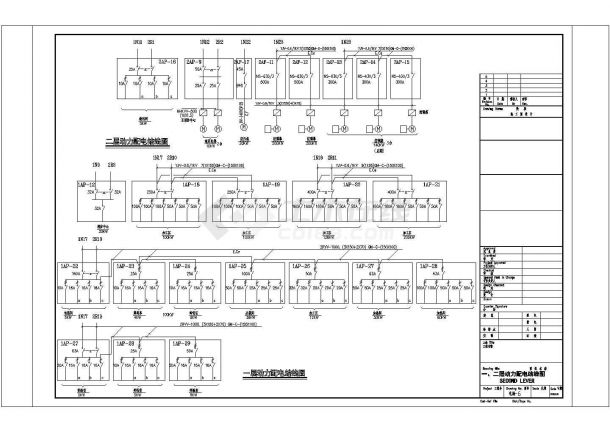 某二层医疗工业厂房电气CAD图纸-图一