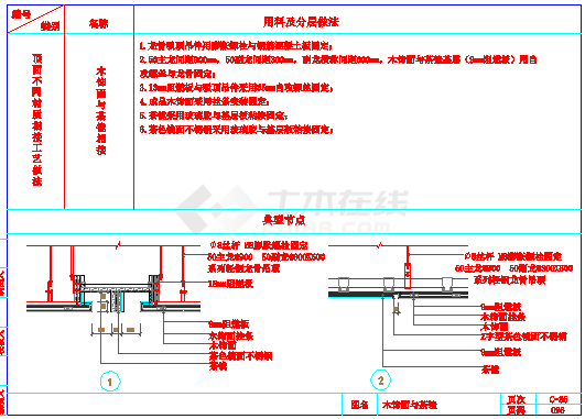 某室内装饰工程cad通用节点-顶面节点详图-图一