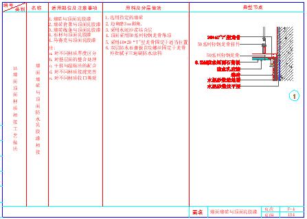 某室内装饰工程cad通用节点-墙顶相接节点详图-图二
