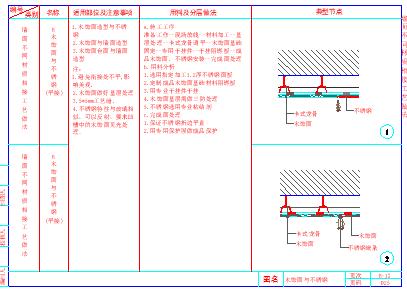 某室内装饰工程cad通用节点-墙面节点详图-图一