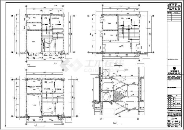 [武汉]两层古典风格框架结构综合性商业建筑设计CAD施工图-图二