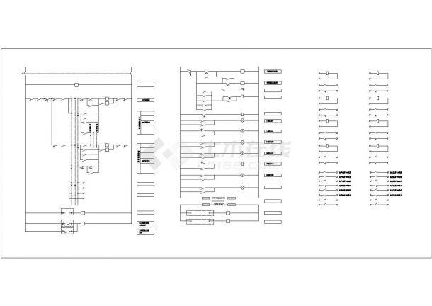 【苏州】某地新型消防喷淋泵启动二次原理cad图(含消防泵电气原理图)-图二