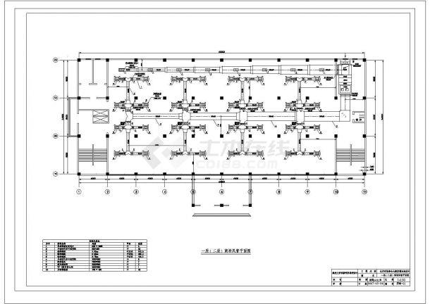 [北京]某多层商场综合楼空调通风及采暖系统设计cad全套施工图(含设计说明,含计算书)-图二