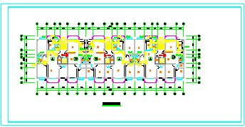 十一层住宅给排水施工cad设计图纸-图一