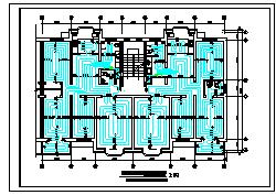 -1+6层(1梯2户3单元)4352.7平米住宅楼地板辐射采暖cad设计【各单元各层采暖平面 采暖系统透视 集配器安装示意 地板辐射采暖设计说明】-图二