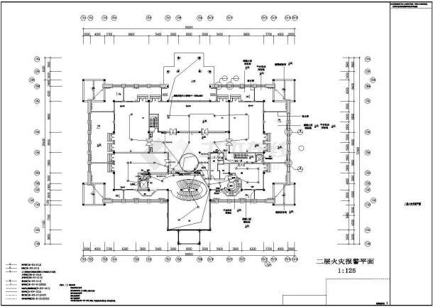 某高档酒店包间全套火灾自动报警系统设计cad图-图一