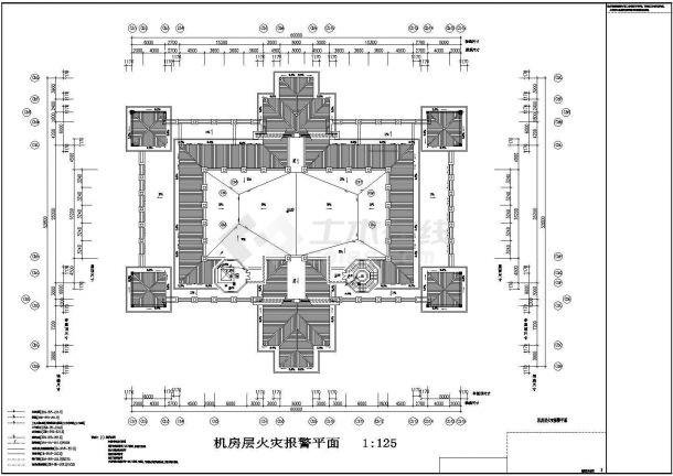 某高档酒店包间全套火灾自动报警系统设计cad图-图二