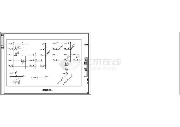 整套别墅采暖系统cad设计施工图纸-图一