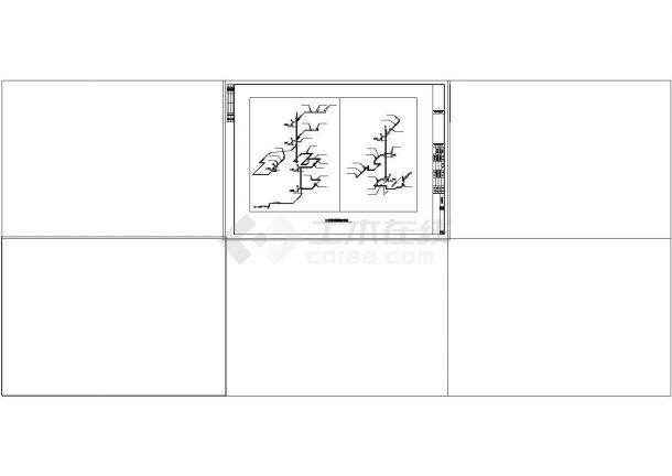 整套别墅采暖系统cad设计施工图纸-图二