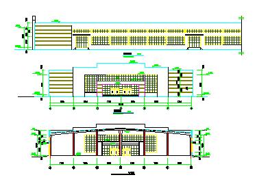 长133.44米 宽45.6米 1层生产车间厂房建筑cad施工图纸-图一