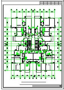 某地北方大型高层住宅楼给排水cad设计图(全套)-图一