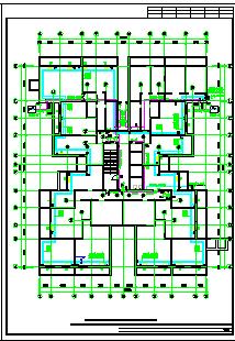 某地北方大型高层住宅楼给排水cad设计图(全套)-图二