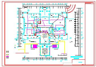 某酒店火灾自动报警系统cad设计施工图-图一