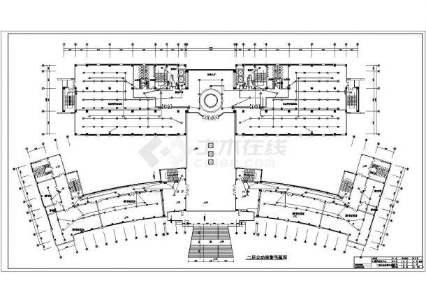 南京某9层图书馆信息中心消防施工图(含各层平面及自动报警系统图)-图一