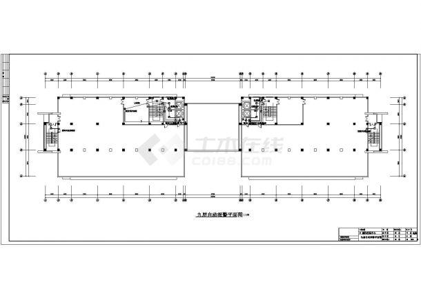 南京某9层图书馆信息中心消防施工图(含各层平面及自动报警系统图)-图二
