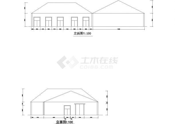 长26米 宽15.5米 1层茶室建筑设计方案草图【 3个CAD文件】-图一