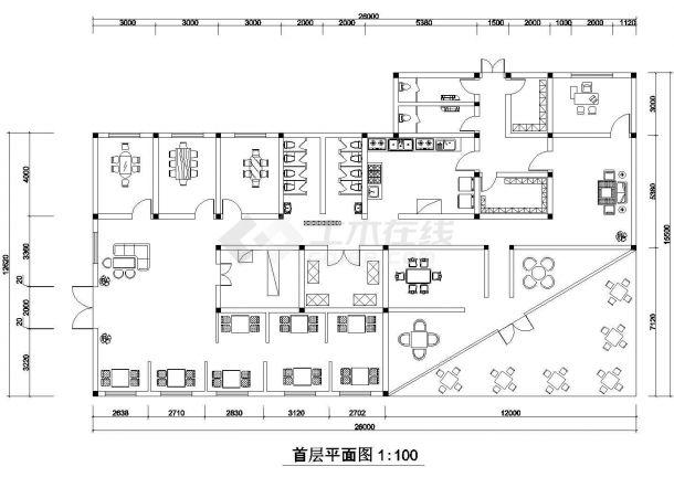 长26米 宽15.5米 1层茶室建筑设计方案草图【 3个CAD文件】-图二