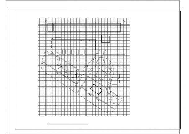 某小区景观施工图非常标准cad图纸设计-图一