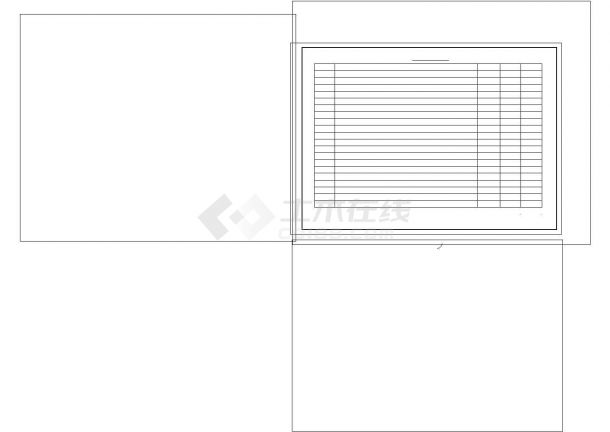 某小区景观施工图非常标准cad图纸设计-图二