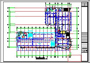 某高层办公楼给排水cad设计图纸-图一