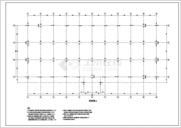 某多层框架结构办公楼设计cad全套结构施工图( 含设计说明)-图一