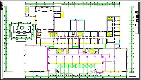 某机关高层办公楼给排水cad毕业设计图纸-图一