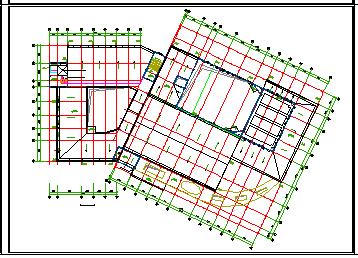 某镇文化中心给排水cad设计图纸-图一