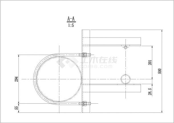 1300KG鼓风混料机详细cad装配图-图二