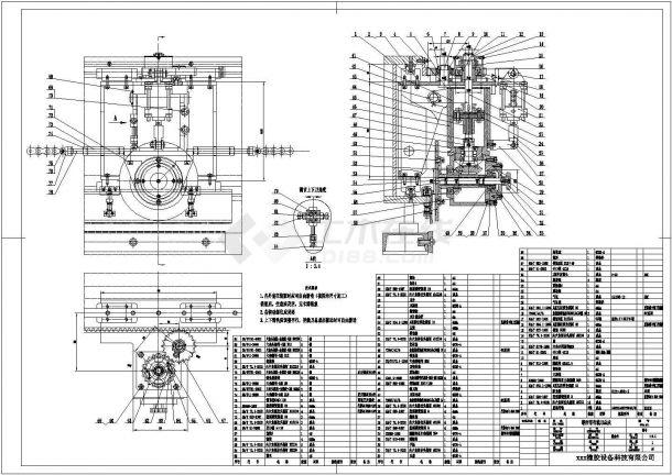 重卡总装车间工艺设备cad平面图-图一