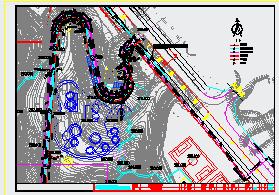 [重庆]体育公园应急通道给排水cad设计施工图纸-图二